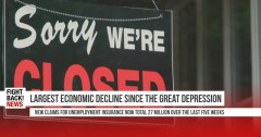 Largest economic decline since the Great Depression