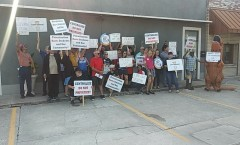 Rally to end attacks on public school employees in Hillsborough County.