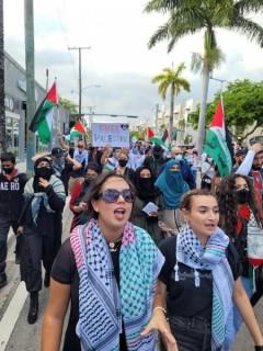 Miami protests Israeli attacks on Palestinians.