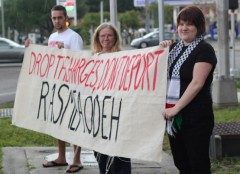 """Rally in Tampa, Florida demanding """"Drop the Charges"""" against Rasmea Odeh"""