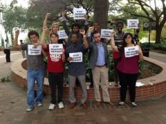 Participants in protest against FBI repression