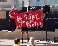 International Workers Day marked in Appleton,WI.