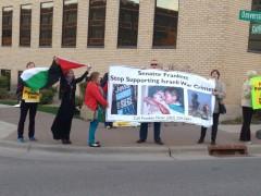 Oct. 27 protest outside of Senator Al Franken's campaign office