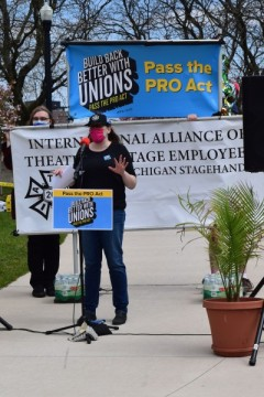 Jessica Westra President Local 26 IATSE stagehands