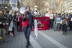NYC protest stands in solidarity with Palestinian struggle.