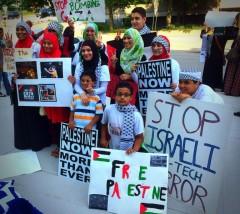 """""""Free Palestine"""" protest in Grand Rapids MI"""