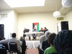 Hatem Abudayyeh speaking in Minneapolis.