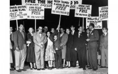 Protest in defense of the Hollywood 10.