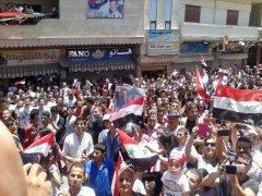 Election rally in Homs