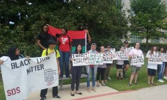 Students at the University of Houston protest against police brutality