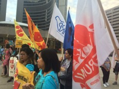 ILPS march in Toronto, Canada.