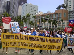 Miami rally for immigrant rights.