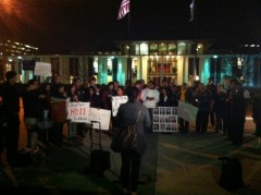 Vigil in Raleigh for immigrant rights.