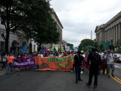 Marching against deportations in Washington D.C.