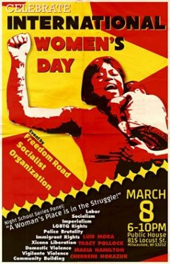 A poster for the International Women's Day in Milwaukee