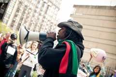 Chicago Anti Eviction Campaign organizer, JR Fleming, speaking at Occupy Chicago