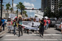 Marching against police crimes in Jacksonville, FL.