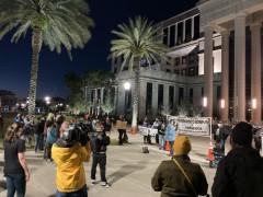 Jacksonville protest demands justice for George Floyd.
