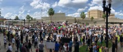 Massive Jacksonville, FL protest against police crimes.