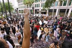 Huge protest against police crimes in Jacksonville, FL.