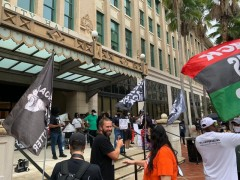 Jacksonville  protest demands People's Budget, stands with the Tally 19