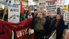 New York protest demands freedom for  Ahed Tamimi.