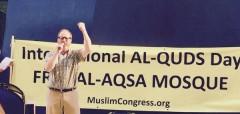 Joe Iosbaker speaking on Al Quds Day.
