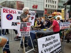 NYC anti war protest.