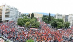Massive rally of Communist Party of Greece (KKE) fills Syntagma Square