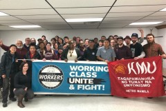 The Young Workers Committee of the Milwaukee Area Labor Council with KMU leader