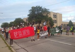 FRSO marching against police crimes in Kenosha, WI.