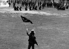Alan Canfora, at Kent State before the National Guard opens fire May, 4, 1970.