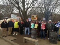 Kohler strikers on the picket lines