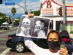Los Angeles protest demands conviction of  killer cop Derek Chauvin.