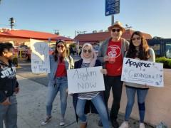 LA action in solidarity with refugee caravan.