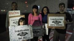 LA protest demands release of jailed immigrant children.