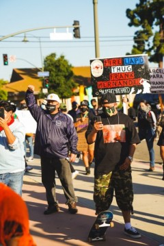 Boyle Heights protest demands firing of killer cop Frank Hernandez.