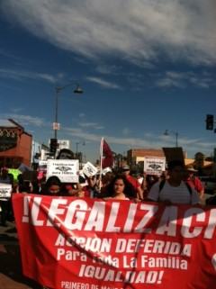 Los Angeles May Day march demands legalization for all.