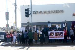 LA protest against U.S. war on Iran.
