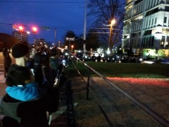 Protesters at Durham police headquarters