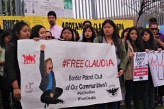 Students stand in solidarity with Claudia Rueda.