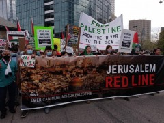 Solidarity with Palestine in Milwaukee, WI.