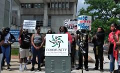Press conference demands prosecution of killer cops.