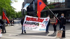 Rebell youth league of MLPD holds solidarity actions with the struggle in US