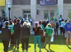 U of M AFSCME rallies for a decent contract.