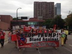 Militant Aug. 19 protest against Trump in Minneapolis, MN