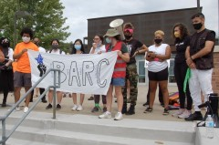 """Protest challenges racist """"blue lives matter"""" rally"""