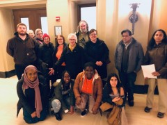 Activists at MN State Board of Investment (SBI) meeting at State Capitol