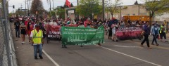 May Day march in Minneapolis, MN.
