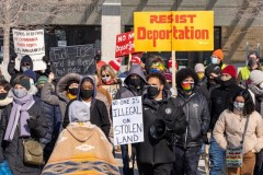 Minnesota protest demands and end to cooperation with ICE.